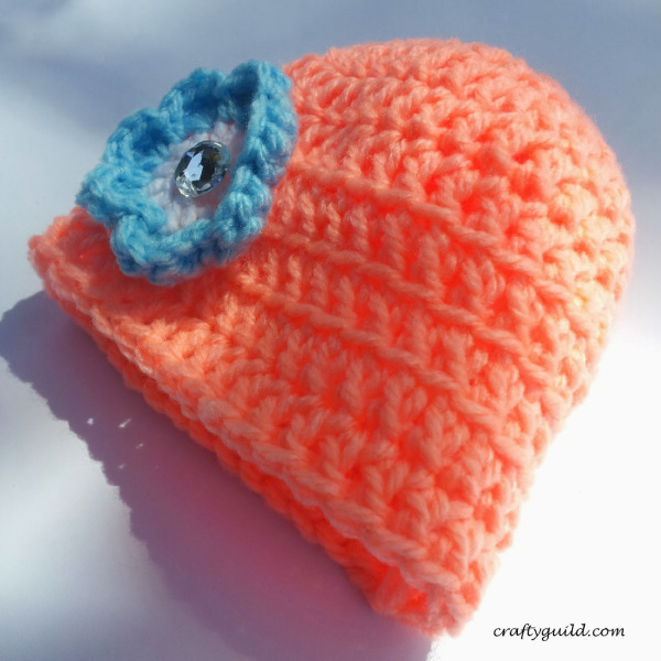 New Born Baby Girl Crochet Hat for Beginners