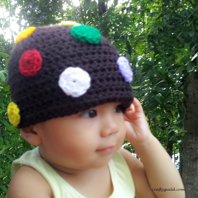 Candy Crush Color Bomb Hat-Free Crochet Hat Pattern