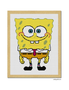 spongebob free cross stitch pattern-01
