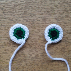Free Frankenstein Crochet - eyes