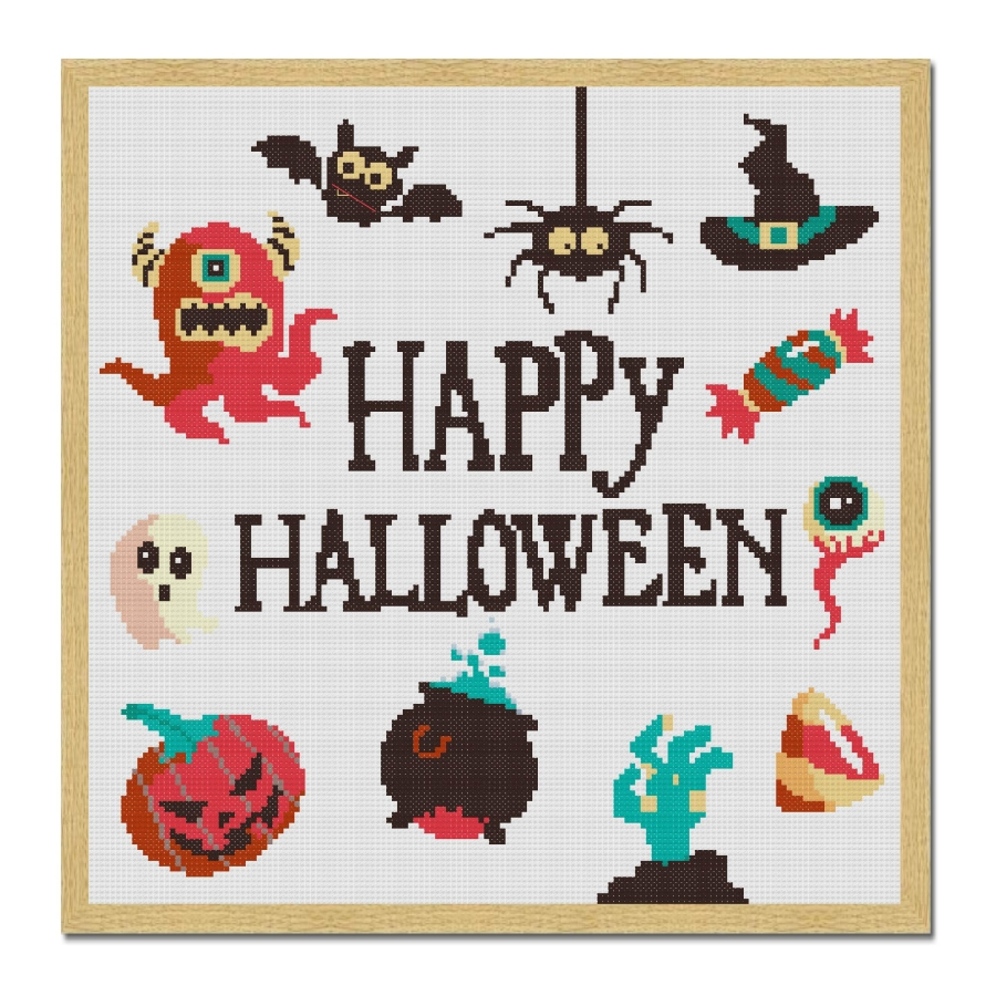 halloween cross stitch pattern-craftyguild.com