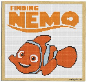 finding nemo free cross stitch pattern-craftyguild.com