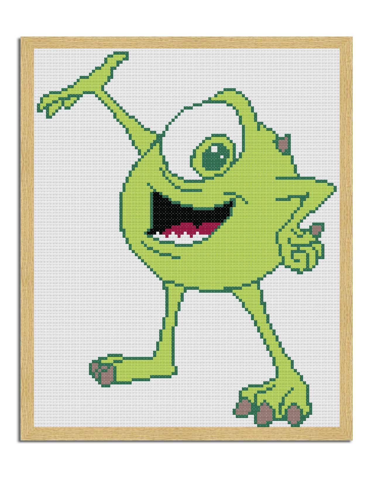 Mike Wazowski from Monsters Inc. Cross Stitch Pattern