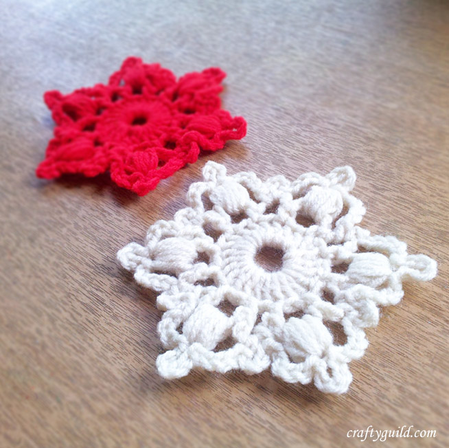 how to crochet a snowflake 1