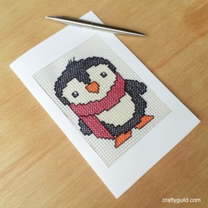 free penguin cross stitch pattern-craftyguild.com