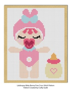 lala loopsy baby bunny free cross stitch pattern-craftyguild.com