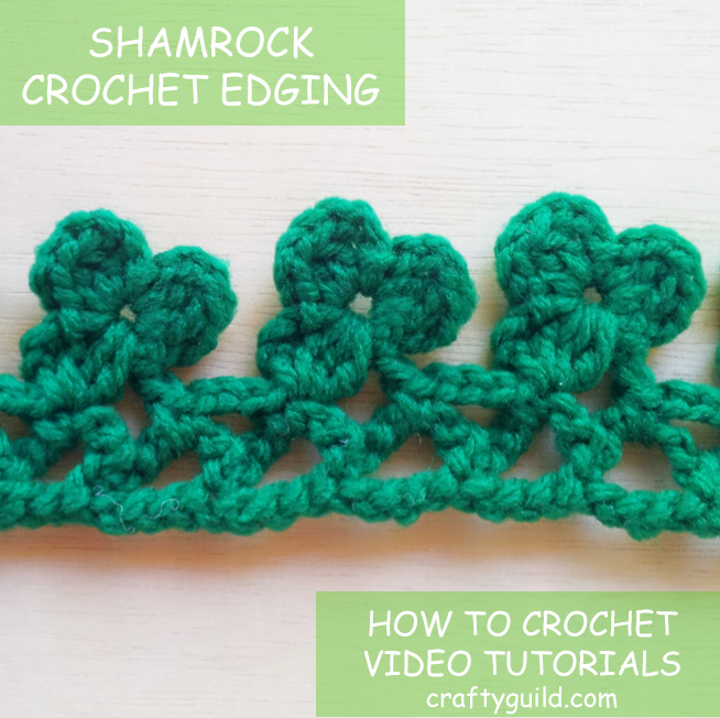 Shamrock Crochet Edging for St. Patrick's Day