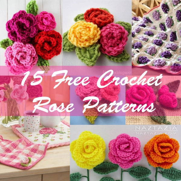 Crochet Patterns Roses Free : 15 Free Crochet Rose Patterns - Crafty Guild
