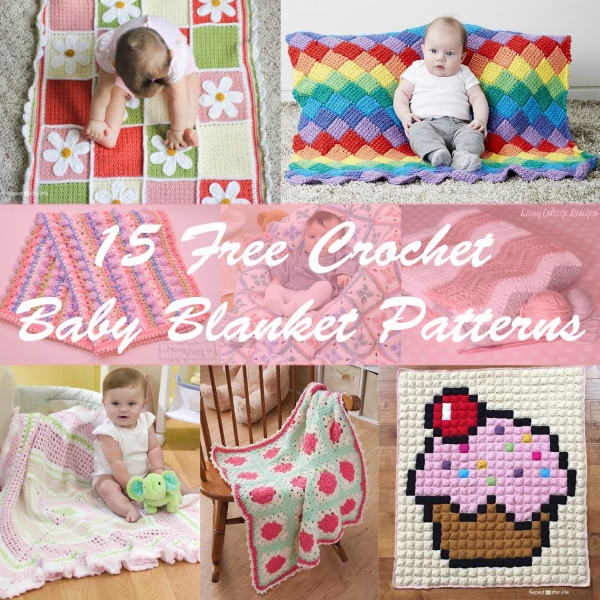 15 Free Crochet Baby Blanket Patterns