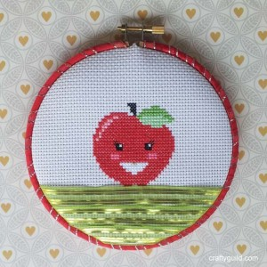 free apple cross stitch pattern