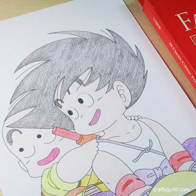 Goku and Krillin – Free Coloring Page from Crafty Guild