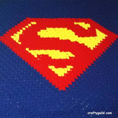 Superman Blanket – Free Crochet Pattern