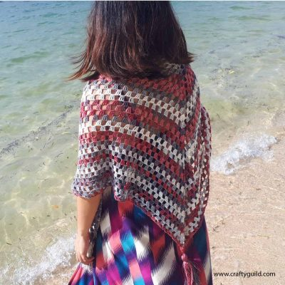 Simple Shawl Free Crochet Pattern