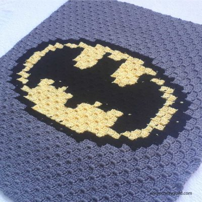 Batman Baby Blanket Free Crochet Pattern