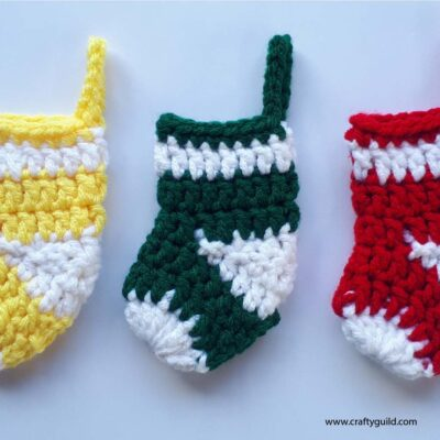 Christmas Stocking Ornaments Free Crochet Pattern